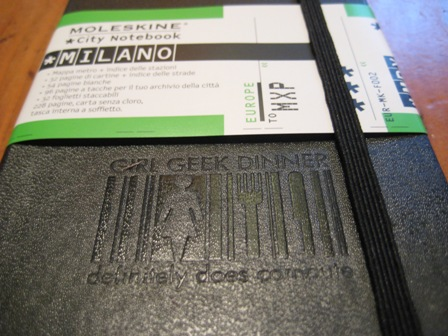 Moleskine Girl Geek Dinner City Notebooks