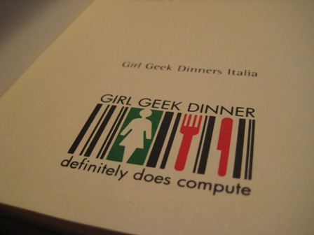 Inside the Moleskine Girl Geek Dinner Italia City Notebooks