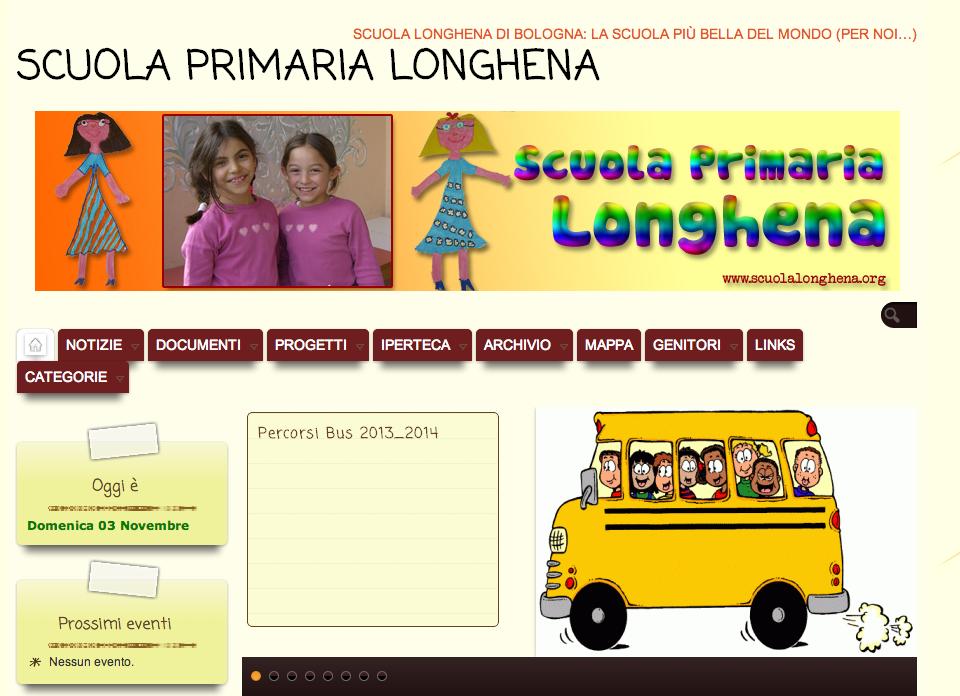 Sito di una scuola primaria di Bologna