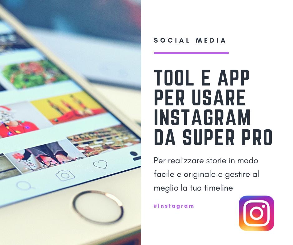 Tool e app per Instagram
